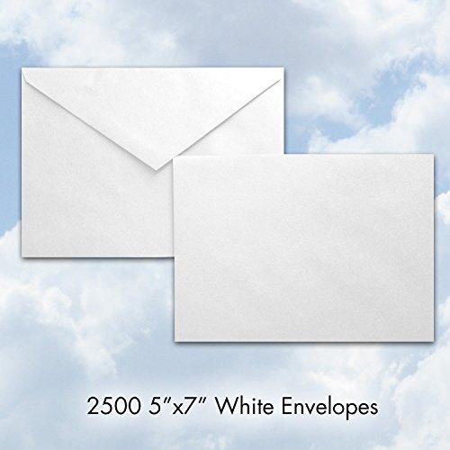 ENV5x7-2500-WHITE Bulk White 5'' x 7'' Baronial Envelopes - Case Pack Quantity: 2,500 - A7 Envelope - The Best Envelope Company by The Best Envelope Company