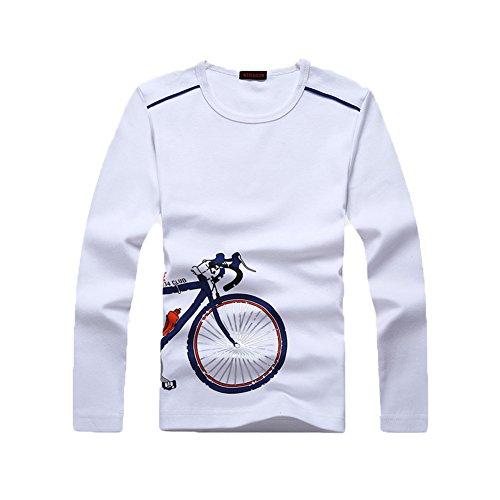 (Boys Long Sleeve T-Shirts Uniform Crew Neck Tee Shirts Cotton Kids Tops Clothes Girls White)