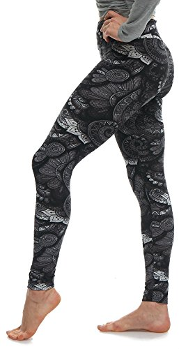 LMB Lush Moda Extra Soft Leggings with Designs- 505YF Floral Abstract Yoga by LMB (Image #10)