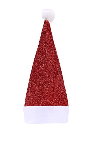 [Life & Living] Santa Claus Christmas Hat, great for festivals, holdiays, Halloween, Chirstmas, X-mas, theme party, costume parties, drama and photo shoot (Bling (Holiday Theme Party Costume)