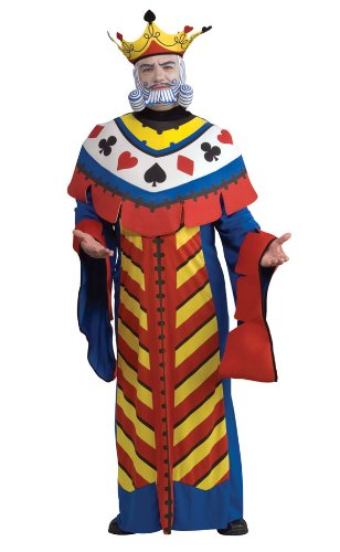 Playing Card King Costume - Standard - Chest Size 46 (Playing Card Costumes)
