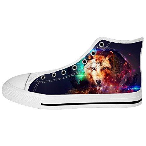 Custom Lupo e luna Womens Canvas shoes I lacci delle scarpe scarpe scarpe da ginnastica Alto tetto