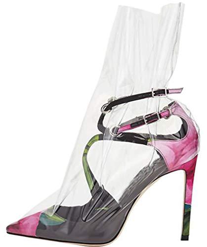 10CM de tac Arraysa Mujer Ponerse Puntiaguda Zapatos Qaico Punta awTqf6R