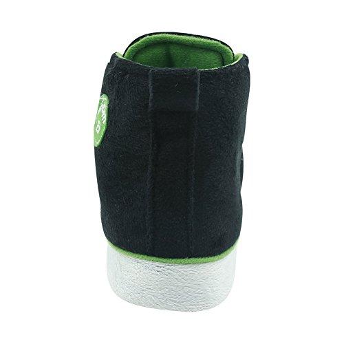 Gohom Heren High-top Slippers Huisschoenen Indoor Schoenen Zwart En Groen