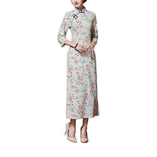 De 02 Estilo Orientales Vestidos Chino Traje Cheongsam Elegantes Qipao Del q6Txw