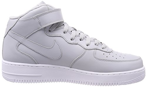 Nike Air Force 1 Mid 07, Sneaker a Collo Alto Uomo Grigio (Wolf Grey-white 046)