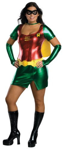 [R17594 (Plus 14-16) Sexy Robin Costume F/R] (Adult Plus Size Batgirl Costumes)