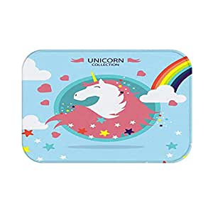 Floor Carpets Rainbow Unicorn Area Rug, Cute Unicorn Area Rug Mat for Living Dining Dorm Room Bedroom Home Decorative