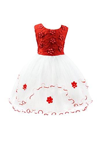Big Occasion OMZIN OMZIN Red Girls Big Special Dresses TXqEE4