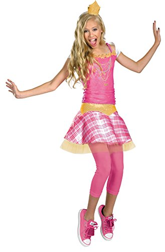 UHC Disney Princess Aurora Christmas Theme Party Tween Girl's Costume, Tween (7-8) (Mascot Costume Disney)