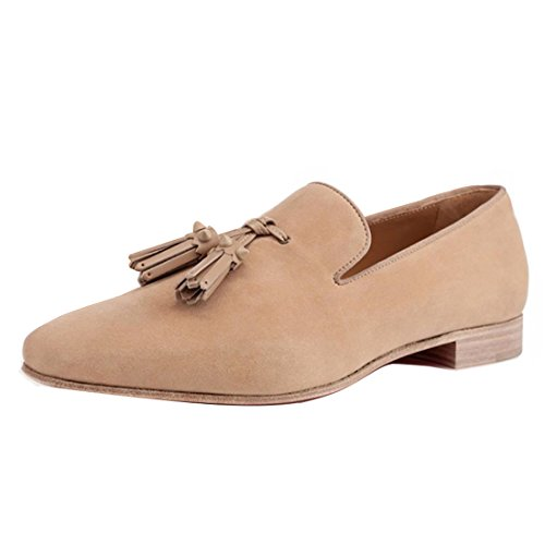 Cuckoo Slip On Tassel Loafers Business Dress Shoes For Men Apricot idb0f
