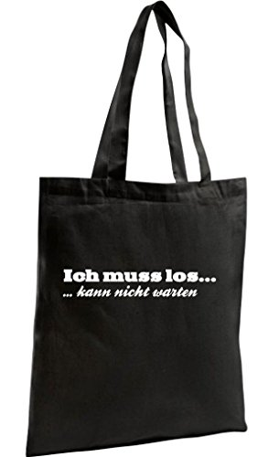 Shopper Attendre Shopping Ne Inscription Kultiger Bag Allemand'ich Zen Shirtstown En Noir Peut Los Organic qHdFxvE7
