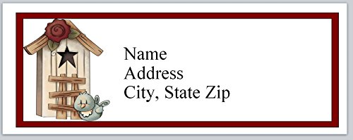 (120 Personalized Address labels Primitive Country Birdhouse Bird (P 503))