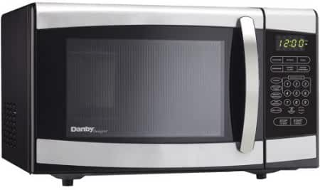 Danby 0.7-cu ft Countertop Microwave 120 volts, Stainless Steel