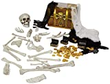 Toy 136 PCs Halloween Decorations Including 28 PCs Halloween Bones 100 Pirate Coins and Spider webs