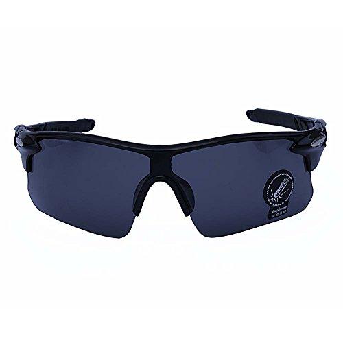 Outdoor Sports Athlete's Sunglasses UV protection (Black Frame, Black - X Sunglasses Malcolm