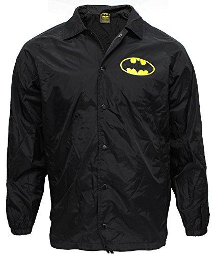 Batman Logo Adult Windbreaker Black Jacket