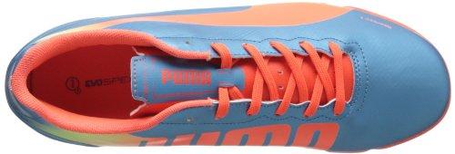 Puma Uomo Evospeed 4.2 Squalo Scarpa Da Calcio Indoor Blu / Pesca Fluorescente / Giallo Fluorescente