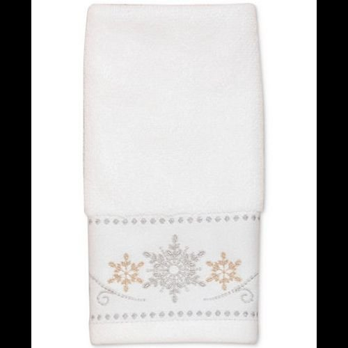 (Lenox Snowflake Boxed Fingertip Towel Set)