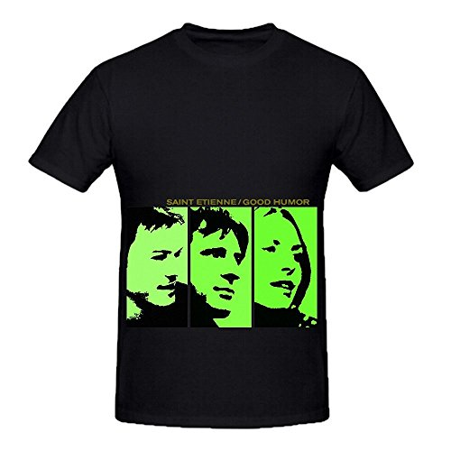 Saint Etienne Good Humor Tour Electronica Mens O Neck Casual Tee Black