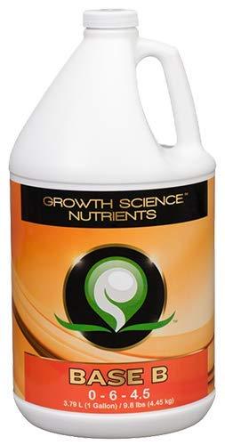 Growth Science Nutrients - Base B (0-6-4.5) : Base Nutrients (Gallon)