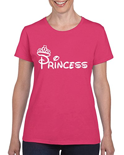 Camalen Princess Fashion Cool T-Shirt For Women Round Neck Tee Shirt(Pink,X-Large) (Princess Pink Womens T-shirt)