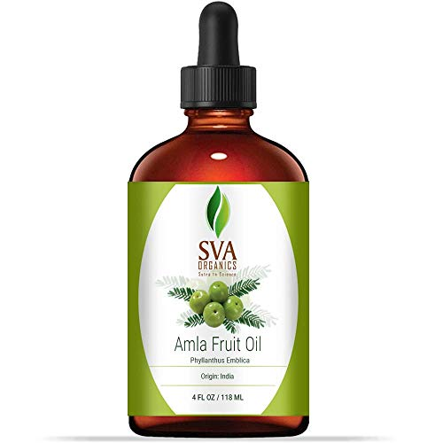 Amla Fruit oil 4 oz(118 ml) 100% pure Therapeutic Grade by SVA ORGANICS - For Rejuvenating Scalp and Hair (Best Hair Oil For Gray Hair)