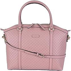 Gucci Women's Leather Micro GG Guccissima Crossbody Dome Purse (Soft Pink)