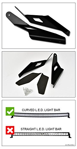VXMOTOR 2014-2017 Chevy Silverado//GMC Sierra 1500//2015-2017 2500 3500 HD Black Roof Pillar Light Lamp Bar Mount Brackets Kit For 54 Curved LED Light Bar FRC