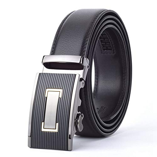 Brown 35mm Cowhide Leather Belt For Men Male Brand Ratchet Automatic Luxury belts Cinturones Hombre,black 2,125cm