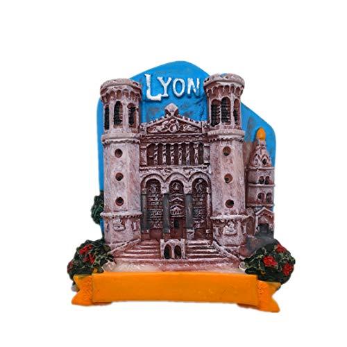 Lyon France Fridge Magnet 3D Resin Handmade Craft Tourist Travel City Souvenir Collection Letter Refrigerator Sticker -