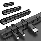 Auxsoul Cable Organizer, Cable Clips, 3 Pack Cable Management Clips Adhesive Desk Cable Management Hooks, Suitable for Home and Office Power Cords, Charging Cables