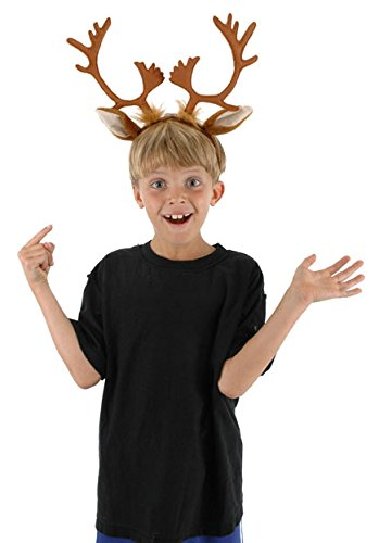 Rudolph The Red Nosed Reindeer Dog Costume (elope Reindeer Antlers Headband)