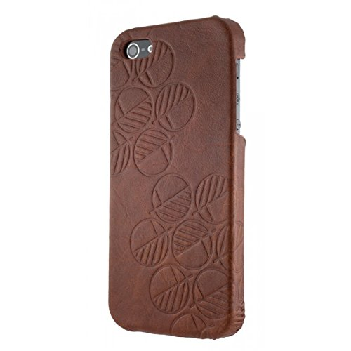 "Drew Lennox ""Assured"" Luxury iPhone SE iPhone 5S iPhone 5 Back Cover Case in Stunning, Sensuous, Genuine British Leather. Caramelo ()"