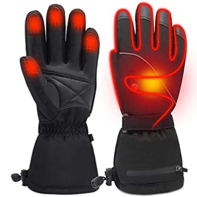 Men Woman Electric Gloves with 3.7V Rechargeable Battery Thermal Heated Gloves for Men Women Perfect for Walking/Hiking/Sleeping/Riding from MMlove