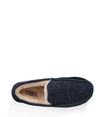 Ugg Heren Ascot Noviteit Wol Lounge Pantoffel Nieuwe Marine