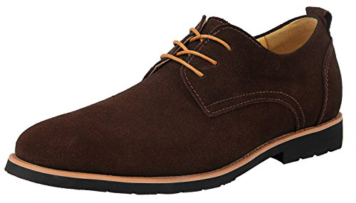 iLoveSIA Men's Leather Suede Oxfords Shoe US Size 8 Brown