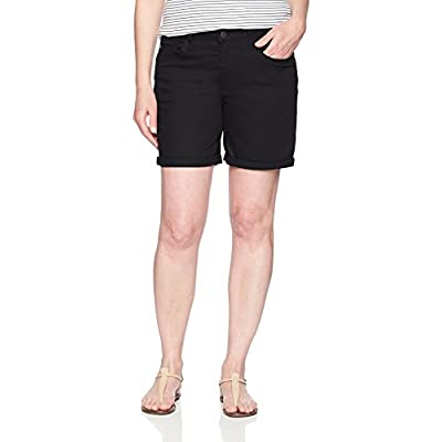 """Riders by Lee Indigo Women's Rolled Cuff Midrise Denim Short with 6"""" Inseam at Women's Clothing store"""