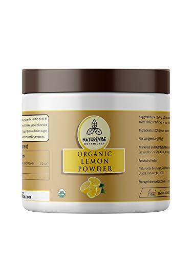 Naturevibe Botanicals Lemon Juice Powder (8oz), Non-GMO & Gluten Free | 100% Natural Lemon ()