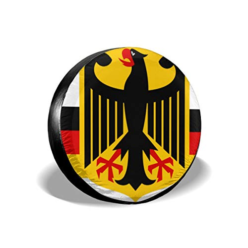 Bizwheo German Flag with Eagle Universal Fit Spare Tire Cover 14