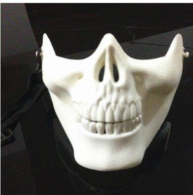 Kofun Airsoft Skull Mask Half Face Masks DEV Novelty Motorcycle Masquerade Halloween Masquerade Party White -