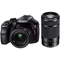 Sony Alpha A3000 Mirrorless Interchangeable Lens 20.1MP Digital Camera with 18-55mm Lens + Sony E 55-210mm F4.5-6.3 Lens