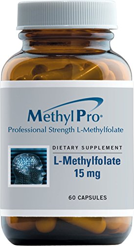 MethylPro - L-Methylfolate 15 mg - 60 Capsules, Professional Strength 5-MTHF by Methylpro