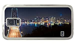 Hipster free shipping Samsung Galaxy S5 Cases san francisco skyline PC Transparent for Samsung S5