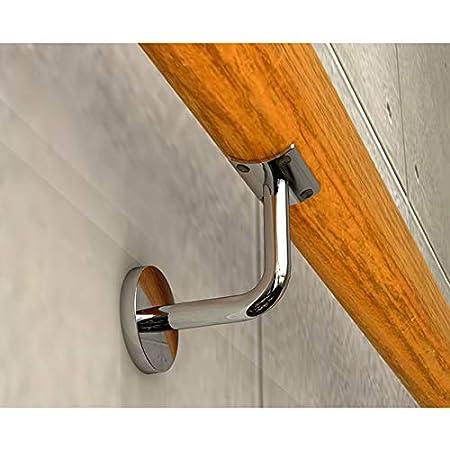 Main courante en bois antid/érapante escalier maison contre le mur int/érieur loft personnes /âg/ées balustrades main courante support de couloir tige taille : 50cm