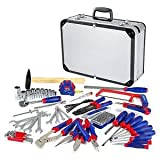 119PC Tool Set Screwdriver Wrench Home Repair Handtool Kit Aluminum Case