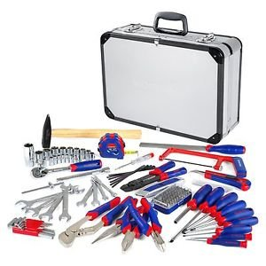 119PC Tool Set Screwdriver Wrench Home Repair Handtool Kit Aluminum Case