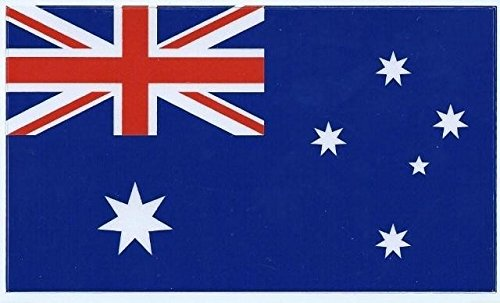 5in x 3in Australia Australian Flag Stickers Bumper Stickers Car Window Decals by StickerTalk Australia Flag Sticker
