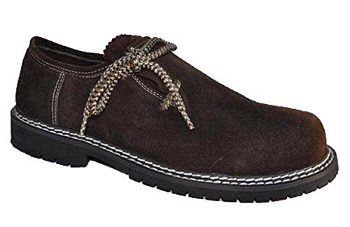 Haferlschuhe Dunkelbraun Trachten Schuhe (46)