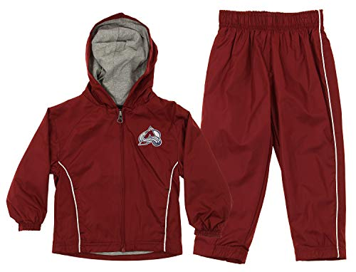 Outerstuff NHL Infant & Toddler (12M-4T) Jacket and Pant Windsuit Set, Colorado Avalanche 3T ()